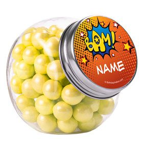 Superhero Comics Personalized Plain Glass Jars (10 Count)