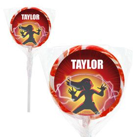 "Superhero Family Personalized 2"" Lollipops (20 Pack)"