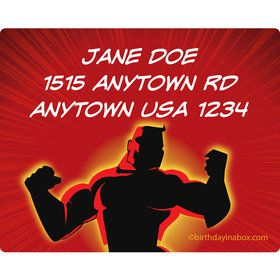 Superhero Family Personalized Address Labels (Sheet of 15)