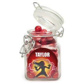Superhero Family Personalized Glass Apothecary Jars (12 Count)