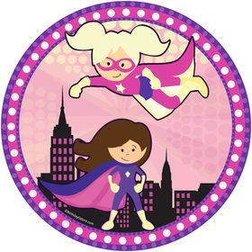 "Superhero Girl 9"" Plate (8 Count)"