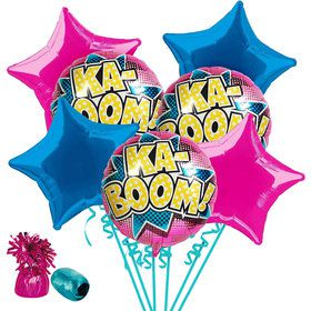 Superhero Girl Balloon Bouquet Kit