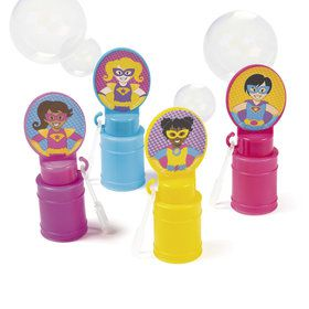 Superhero Girl Bubble Bottles (24)