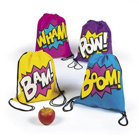 Superhero Girl Drawstring Backpacks (12)