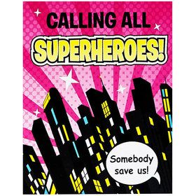 Superhero Girl Invitations