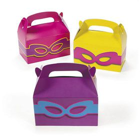 Superhero Girl Treat Boxes (12 Count)