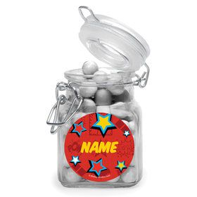 Superhero Girls Personalized Glass Apothecary Jars (12 Count)