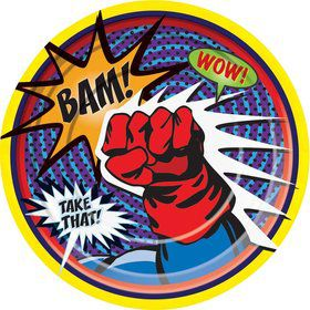 Superhero Luncheon Plate (8 Pack)