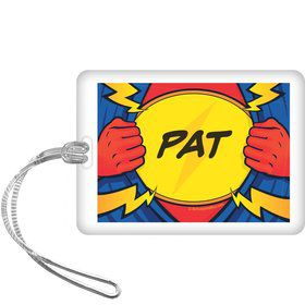 Superhero Party Personalized Bag Tag (each)