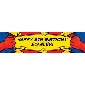 Superhero Party Personalized Banner (each)