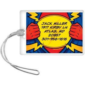 Superhero Party Personalized Luggage Tag (each)