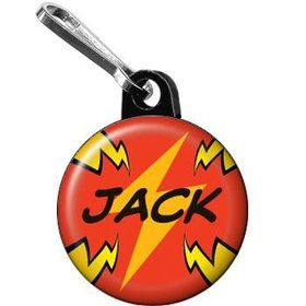 Superhero Party Personalized Mini Zipper Pull (each)
