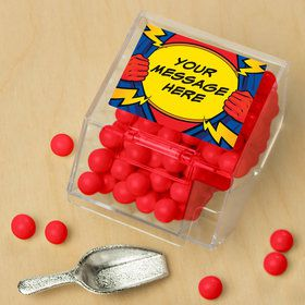 Superhero Personalized Candy Bin with Candy Scoop (10 Count)