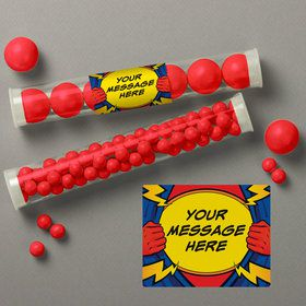 Superhero Personalized Candy Tubes (12 Count)
