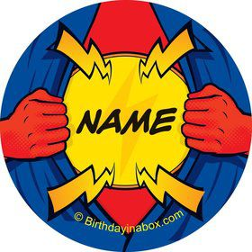 Superhero Personalized Mini Stickers (Sheet of 20)