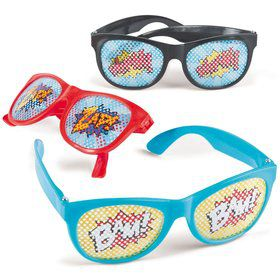 Superhero Pinhole Glasses (12 Pack)