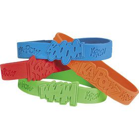 Superhero Rubber Bracelet Favors (12 Pack)