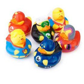 Superhero Rubber Duckie (12 Pack)