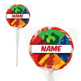 "Superheroes Personalized 2"" Lollipops (20 Pack)"