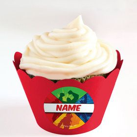 Superheroes Personalized Cupcake Wrappers (Set of 24)