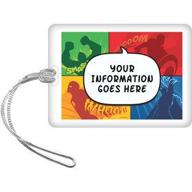 Superheroes Personalized Luggage Tag (Each)