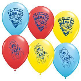 "Superman 12"" Latex Balloons (6 Pack)"