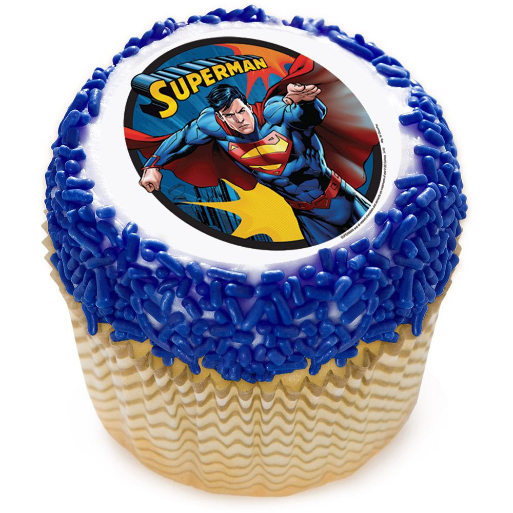 "Superman 2"" Edible Cupcake Topper (12 Images) - Party Supplies"