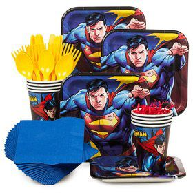 Superman Birthday Party Standard Tableware Kit Serves 8