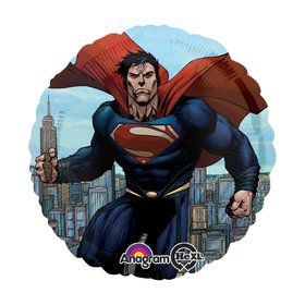 "Superman Man of Steel 17"" Balloon (Each)"