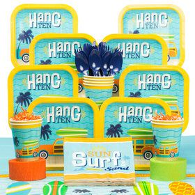 Surf Party Deluxe Tableware Kit (Serves 8)