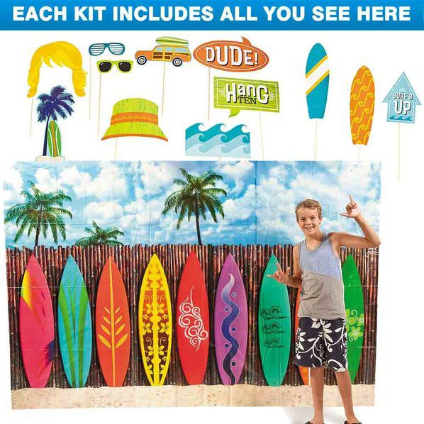 Surf Party Photo Booth Kit