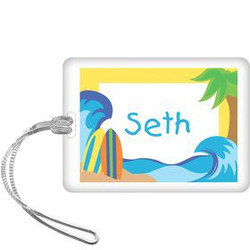 Surfer Dude Personalized Bag Tag (each)