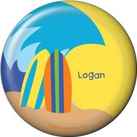 Surfer Dude Personalized Button (each)