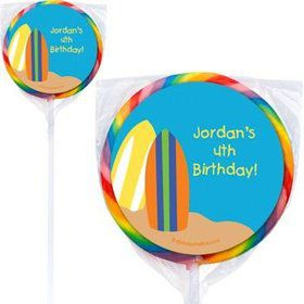 Surfer Dude Personalized Lollipops (pack of 12)