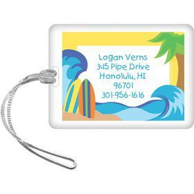 Surfer Dude Personalized Luggage Tag (each)
