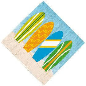 Surfs Up Beverage Napkins (16 Pack)
