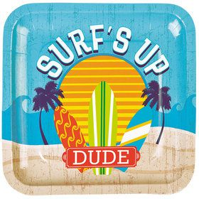 Surfs Up Dinner Plates (8 Pack)