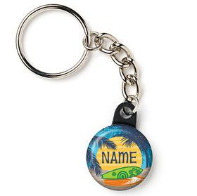 "Surf's Up Personalized 1"" Mini Key Chain (Each)"