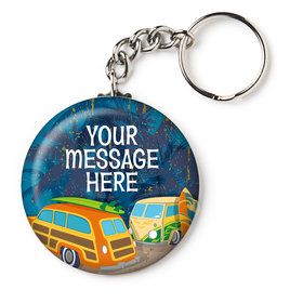 """Surf's Up Personalized 2.25"""" Key Chain (Each)"""
