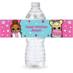 Surprise Dolls Personalized Bottle Label (Sheet of 4)