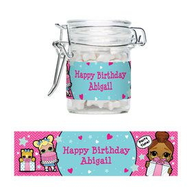 Surprise Dolls Personalized Glass Apothecary Jars (12 Count)
