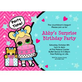 Surprise Dolls Personalized Invitation (Each)