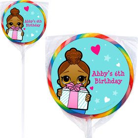 Surprise Dolls Personalized Lollipops (12 Pack)