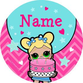 Surprise Dolls Personalized Mini Stickers (Sheet of 24)