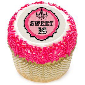 "Sweet 16 2"" Edible Cupcake Topper (12 Images)"