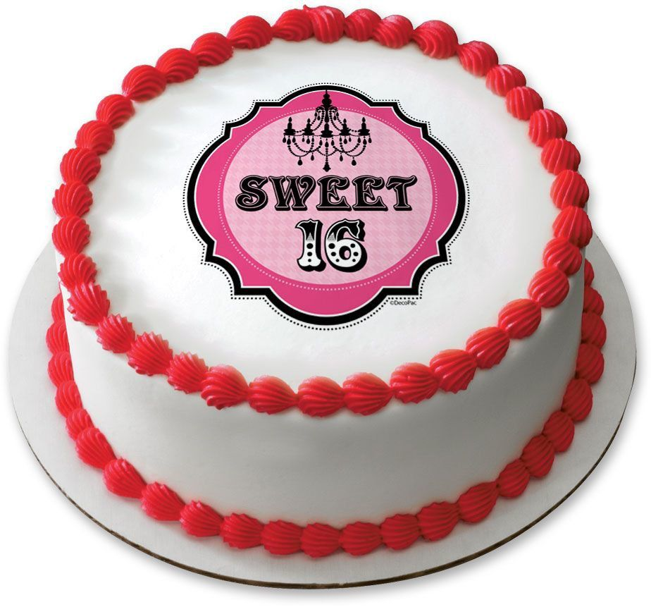 Sweet 16 75 Round Edible Cake Topper Cooking Kits Party Supplies