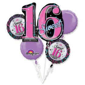 Sweet 16 Balloon Bouquet (Each)