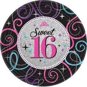 "Sweet 16 Celebration 9"" Luncheon Plates (8 Pack)"