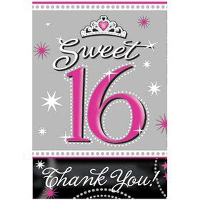 Sweet 16 Invitation and Thank You Set (20 Pack)