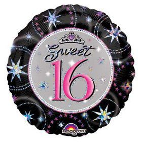 "Sweet 16 Sparkle Prismatic 18"" Balloon (Each)"
